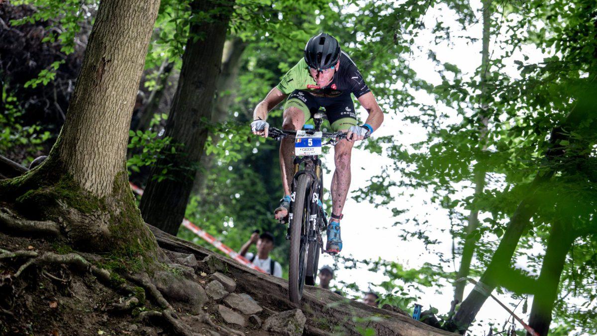 Geert Lauryssen op podium in Xterra Belgium