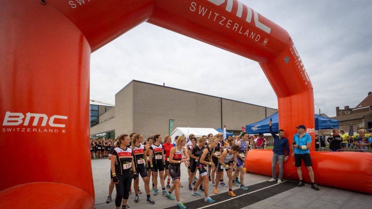 Duatlon Halle prooi voor Lotte Claes en Wazo De Rouck