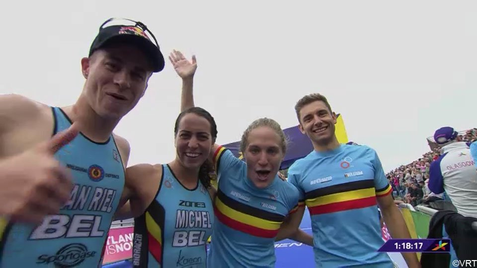 Team Belgium pakt brons in EK Mixed Team Relay