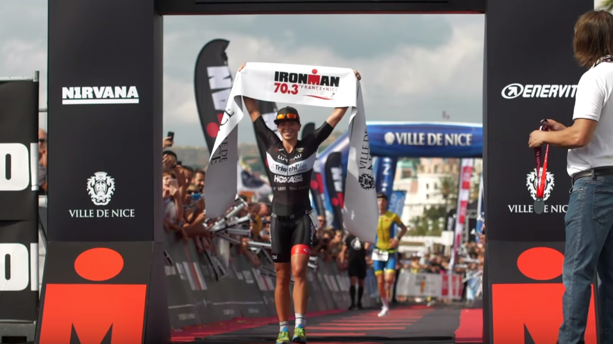 In beeld: sfeervideo van 70.3 Ironman van Nice